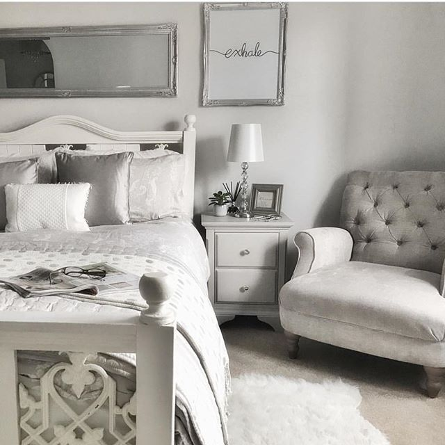 Elegant Homeinterior Design: An Elegant Bedroom In Grey And White So Inspiring Photo