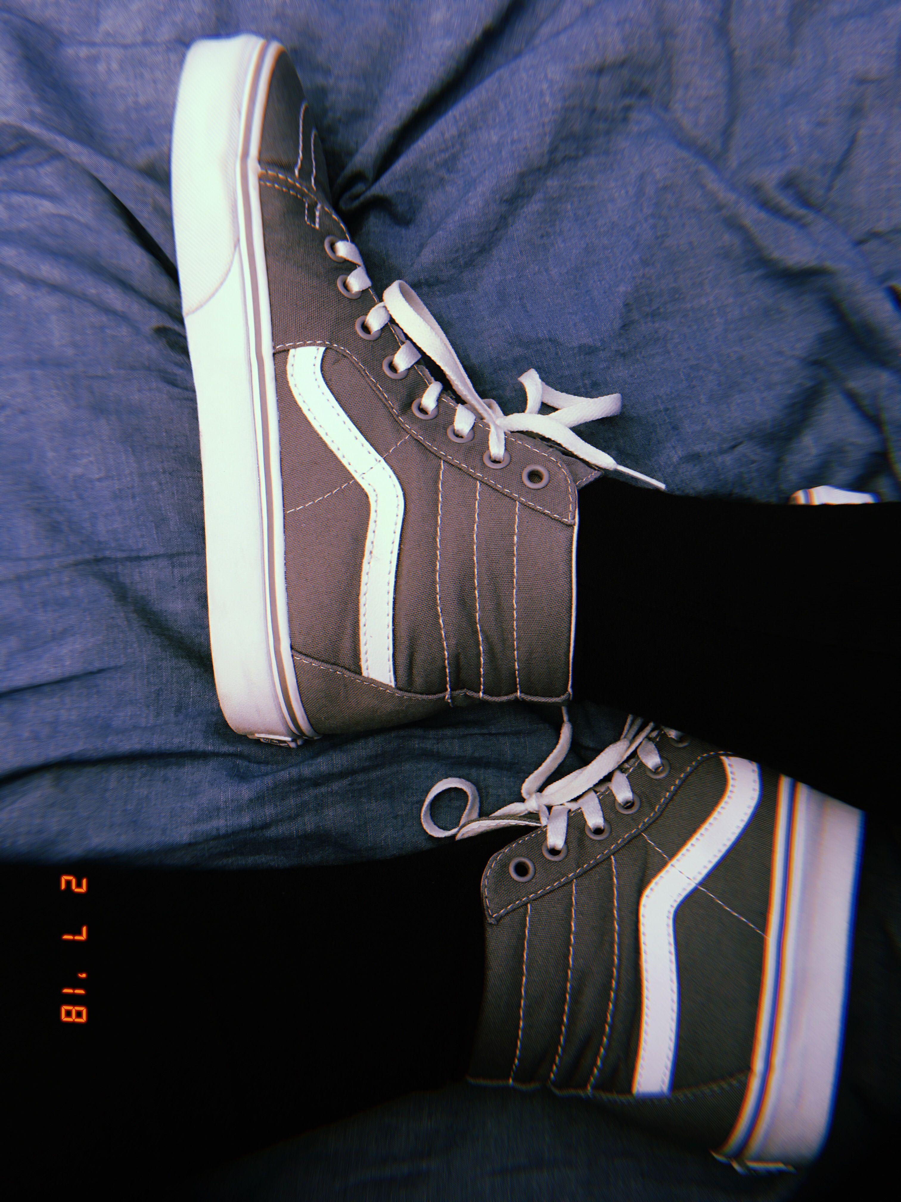 90ff811fcc05d6 gray grey vans - high tops - jeans - aesthetic - photography - tumblr -  blue - retro - huji - teen angst - sk8r boi