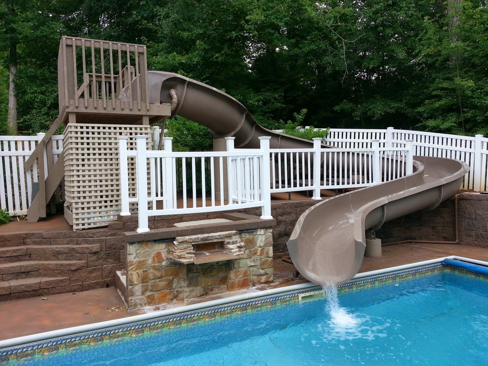 Residential water slides for pools step 3 tada you - Commercial swimming pool water slides ...