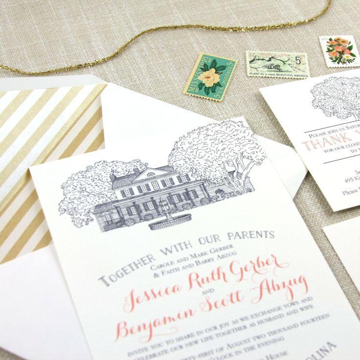 Legare Waring House Wedding Invitation | Invitation envelopes ...