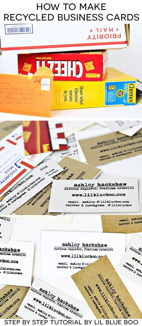 How to Make DIY Recycled Business Cards | Pinterest | Business cards ...