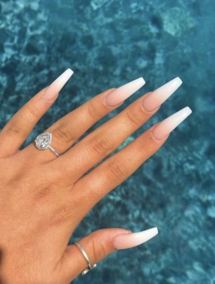Acrylic nails. Spring / Summer. White. Winter / Fall…