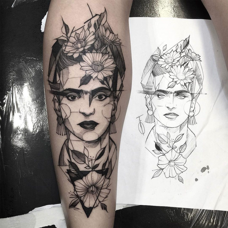 Blackwork Tattoos By Brazilian Artist Fredao Oliveira Art Inspired Tattoos Frida Kahlo Tattoos Art Tattoo