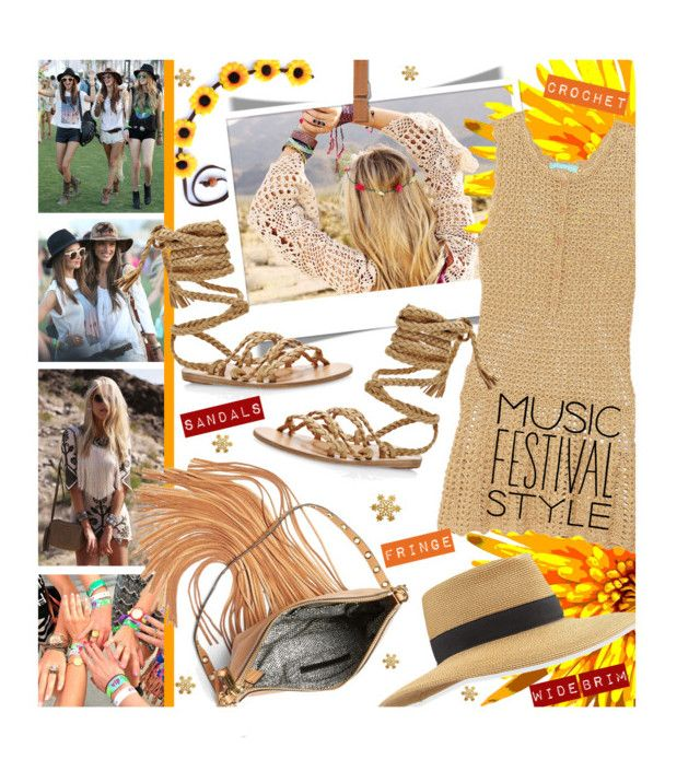 """""""I Love Music Festival Style"""" by edenslove ❤ liked on Polyvore featuring Kerr®, Eric Javits, Rebecca Minkoff, Melissa Odabash, Ancient Greek Sandals, women's clothing, women, female, woman and misses"""