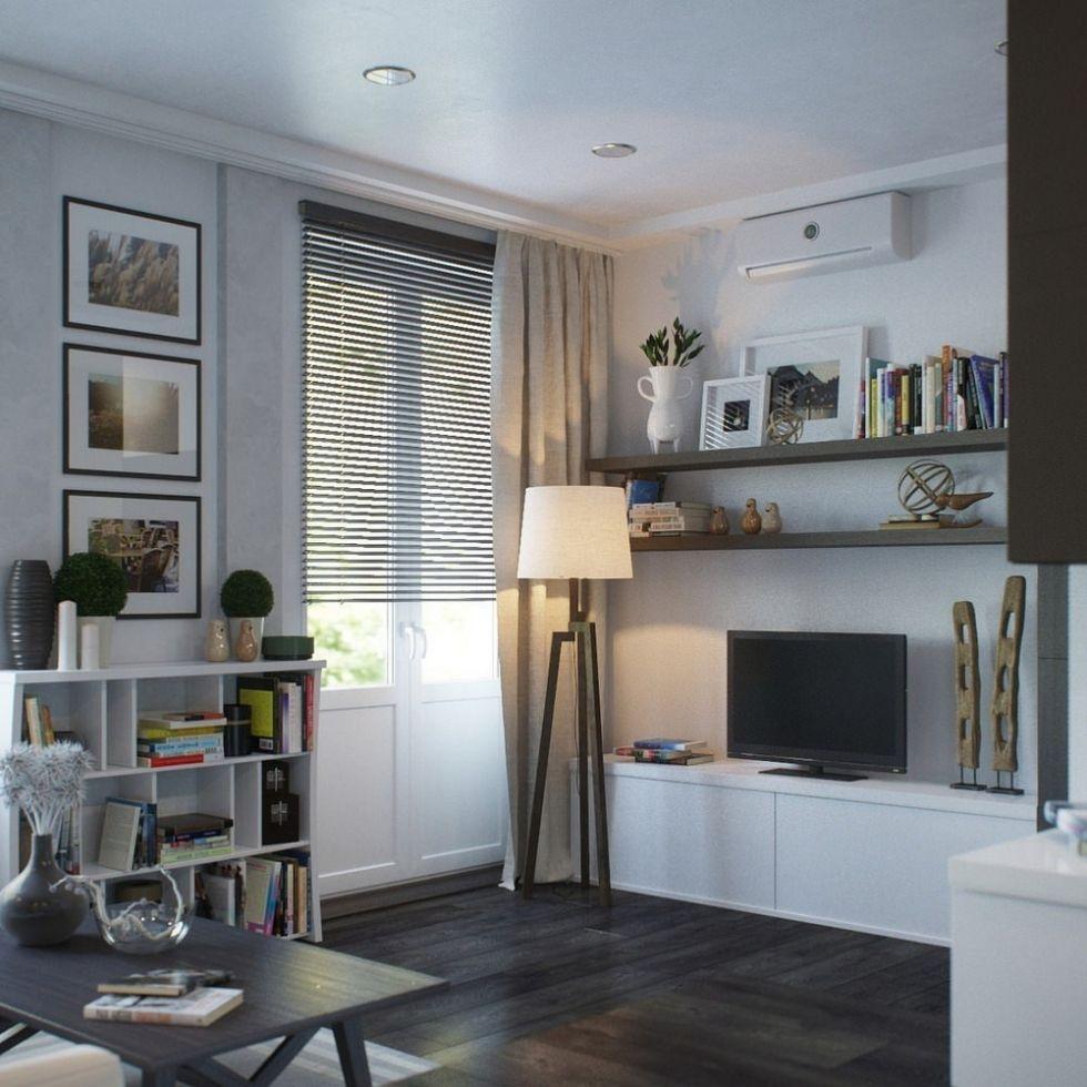 Современный дизайн однокомнатной квартиры 37 кв. м. - Дизайн интерьеров | Идеи вашего дома | Lodgers