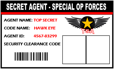 Secret agent spy id badge give everyone at your spy for Spy id card template