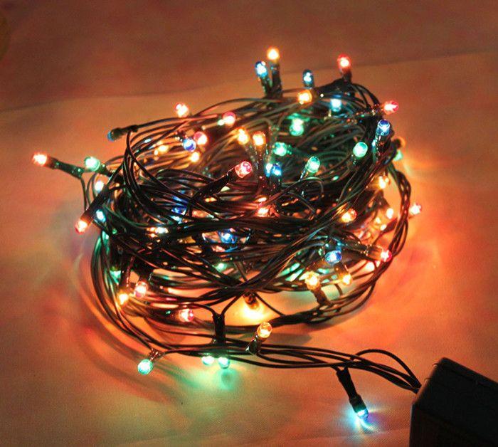220V Led String Christmas Lights Outdoor 96 leds Night light for