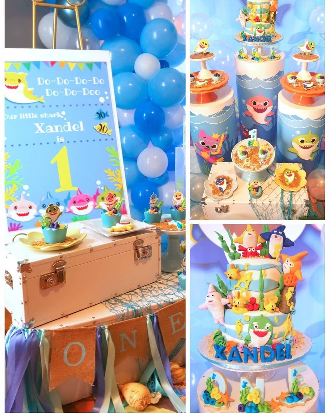 Baby Shark Theme Party Ideas | Party themes, Baby shark ...
