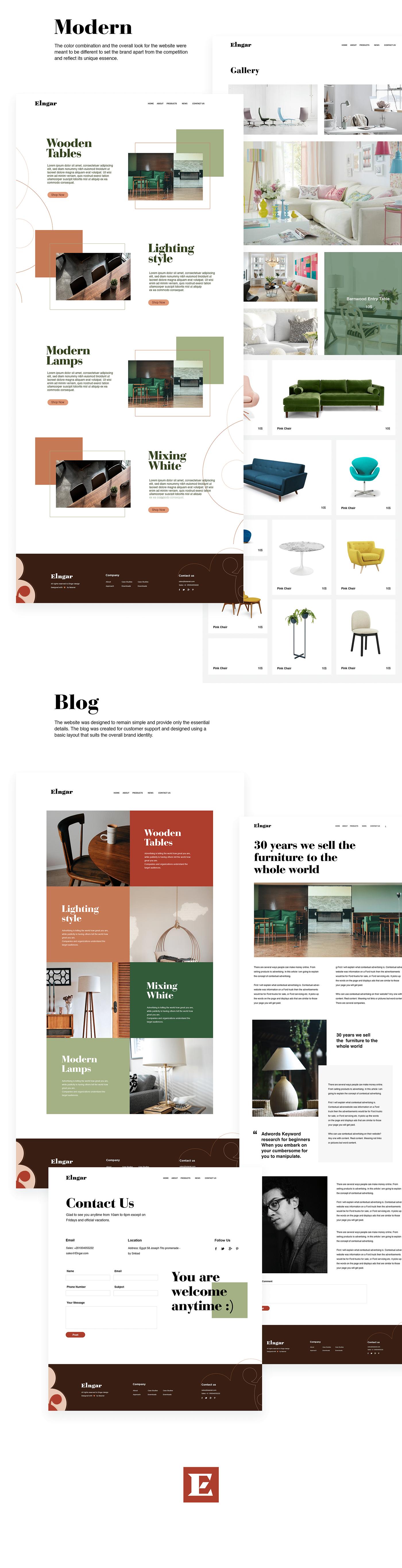 Elngar Brand Identity And Website Design On Behance Website Design Design Ultra Modern Homes