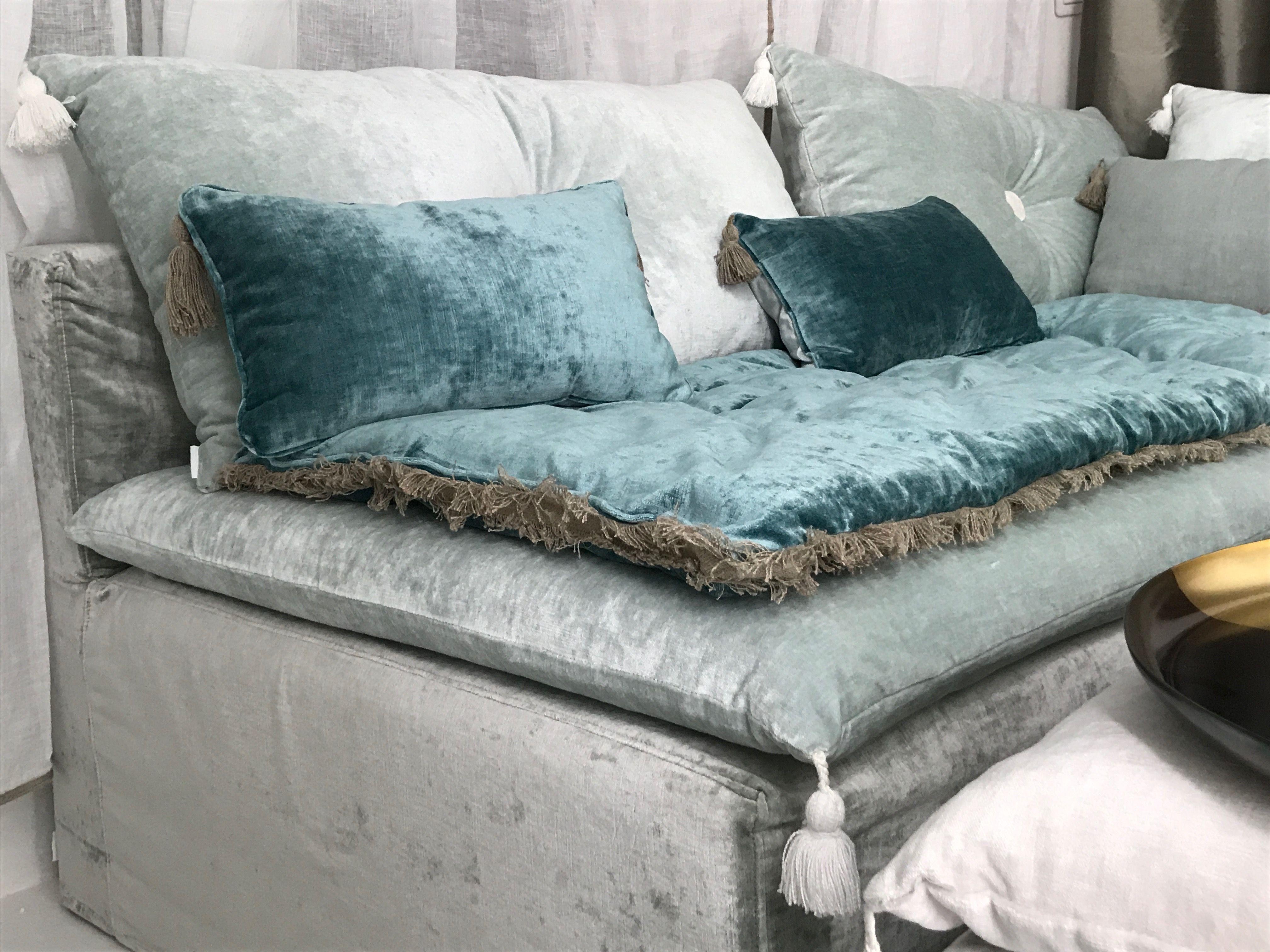 Sofa cover velours lavé bleu turquoise en 2019 ...