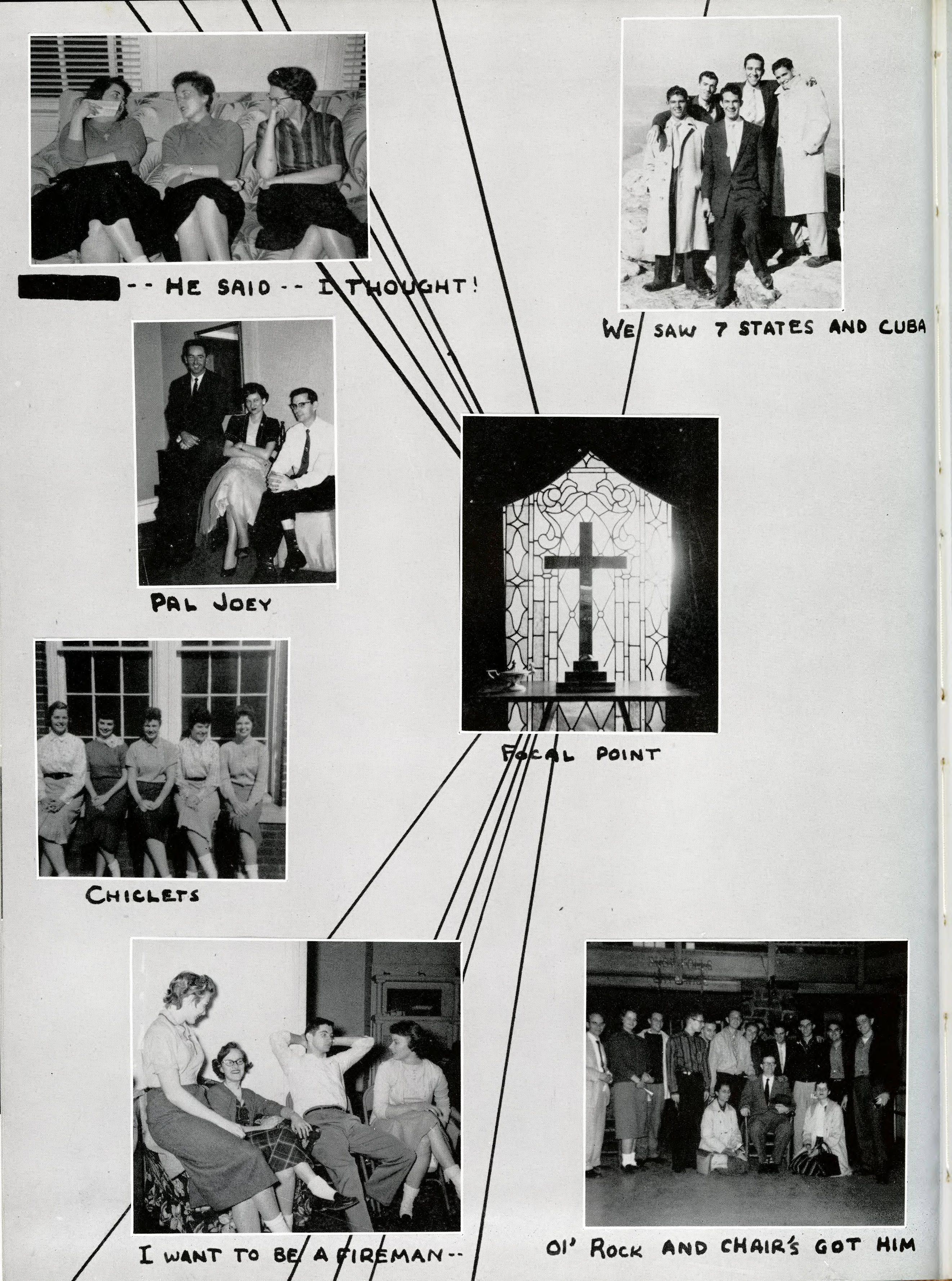 1958 Moccasin Yearbook, University of Chattanooga, UTC. See more old yearbooks at http://digital-collections.library.utc.edu/cdm/landingpage/collection/p16877coll3