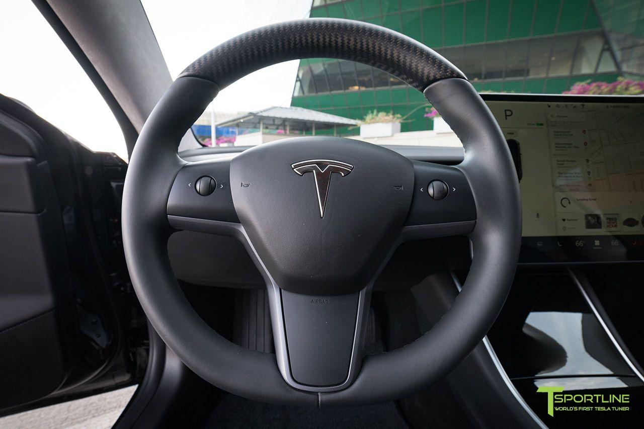 Tesla Model 3 Carbon Fiber Steering Wheel by T Sportline