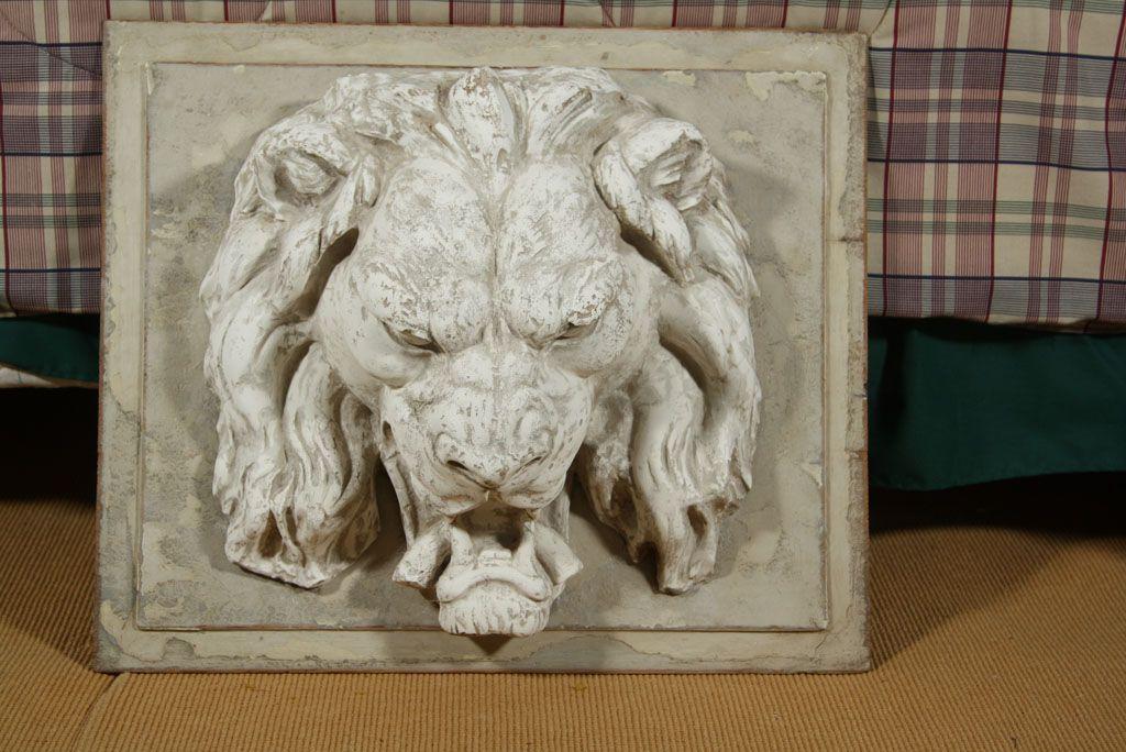 Lion S Head Plaster Wall Plaque Plaster Walls Wall Plaques Lion Head