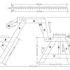 Kids size folding picnic table plans Artesanato e Faa voc