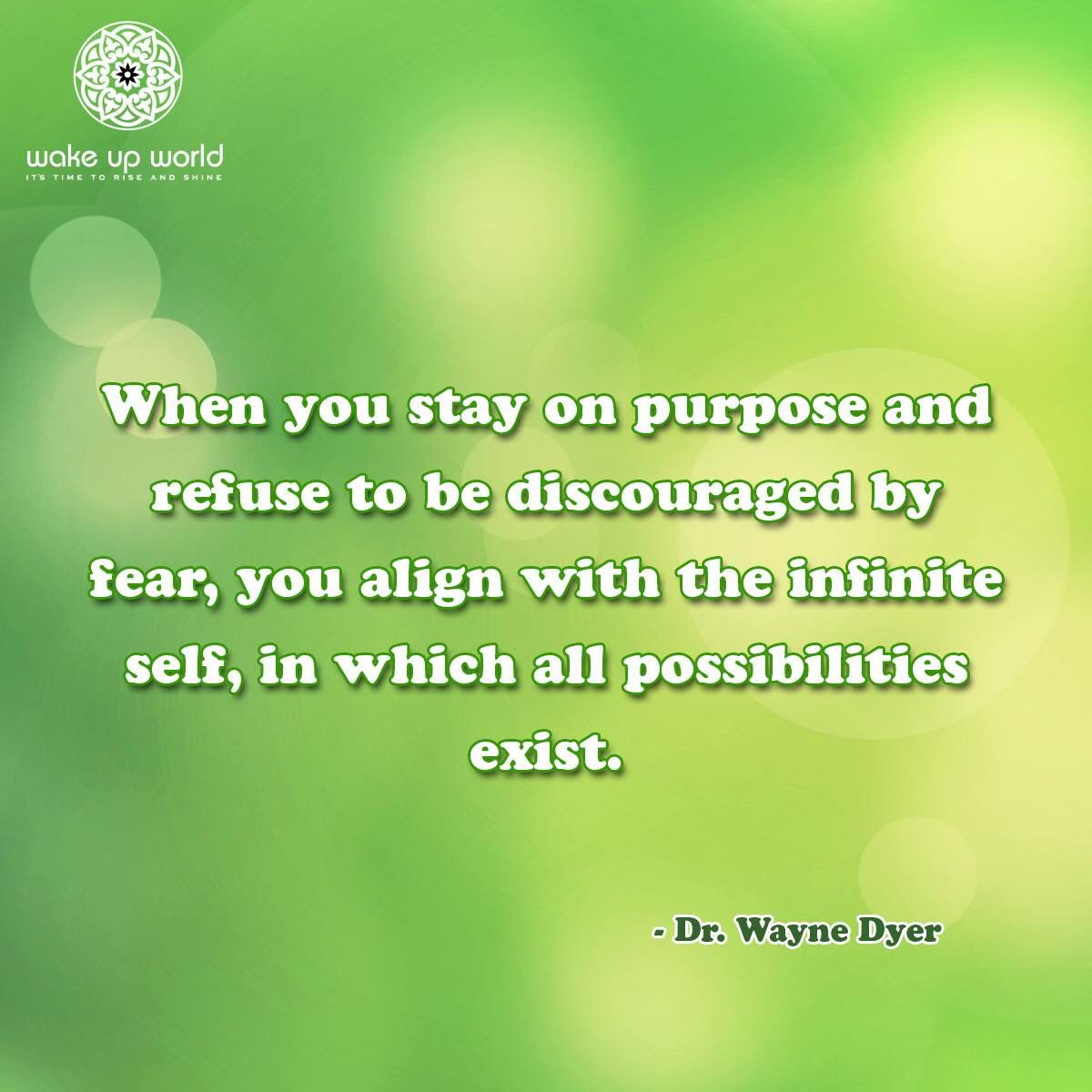 Stay on your purpose!