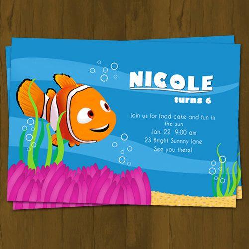 Nemo BIRTHDAY PARTY INVITATION Underwater by SplashboxPrintables