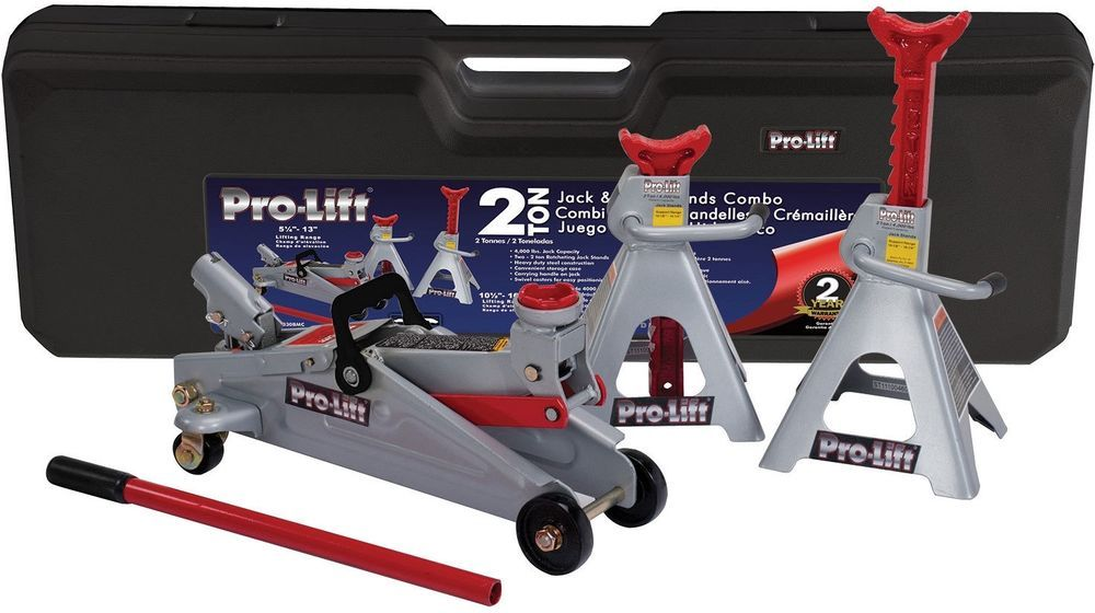 Pro Lift Grey 2 Ton Floor Jack Stands Combo Automotive