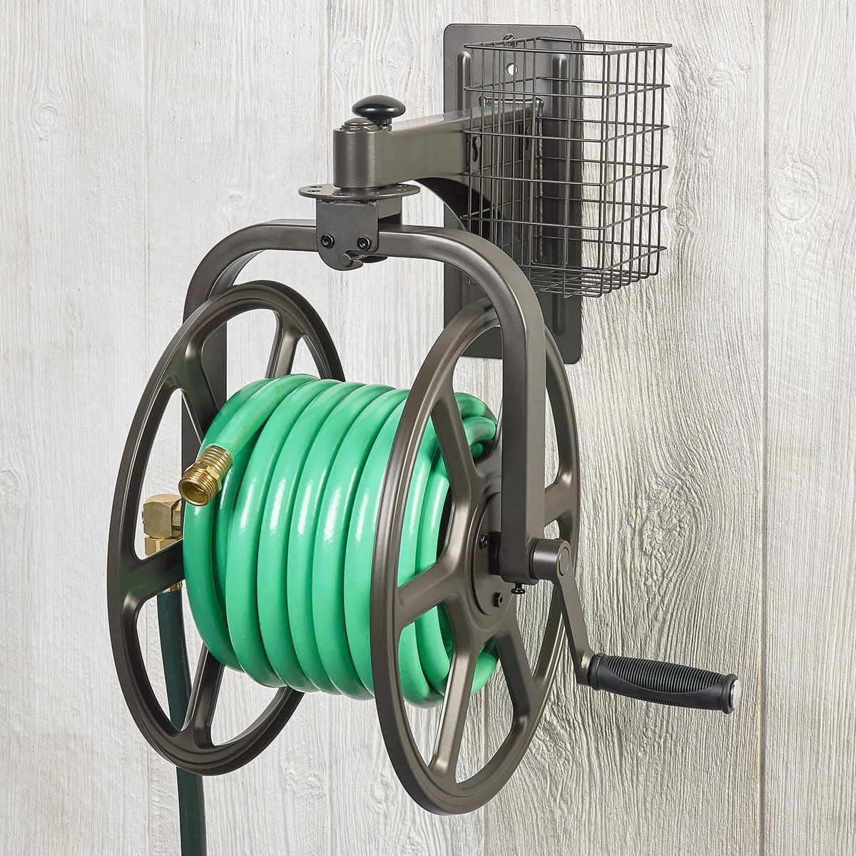 liberty garden products 712 single arm navigator multi directional garden hose reel holds 125 - Liberty Garden Hose Reel