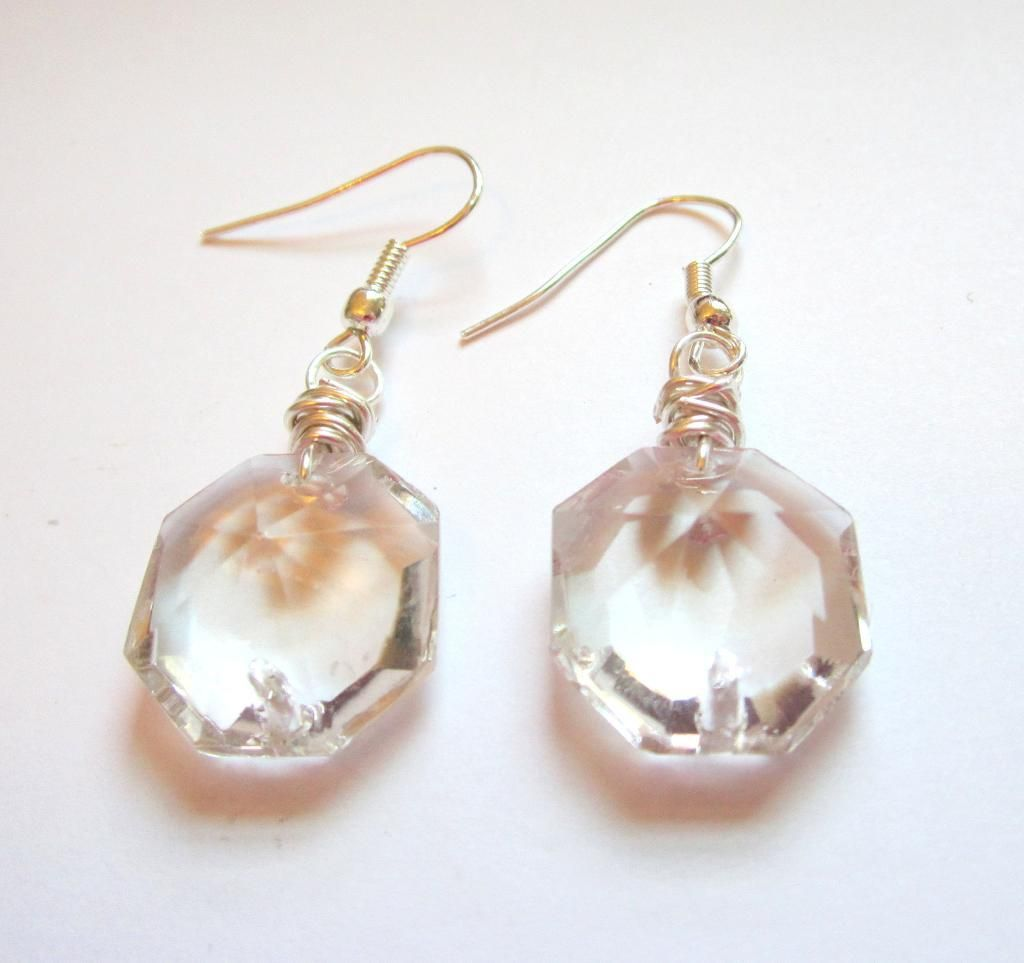 Upcycled Chandelier Crystal Earrings Craftyas A Fox Is Crafty - Upcycled chandelier crystals