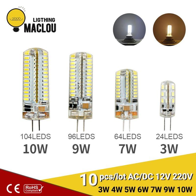 10pcs G4 Led Ac Dc 12v 220v 3w 6w Led Lamp Light Bulb