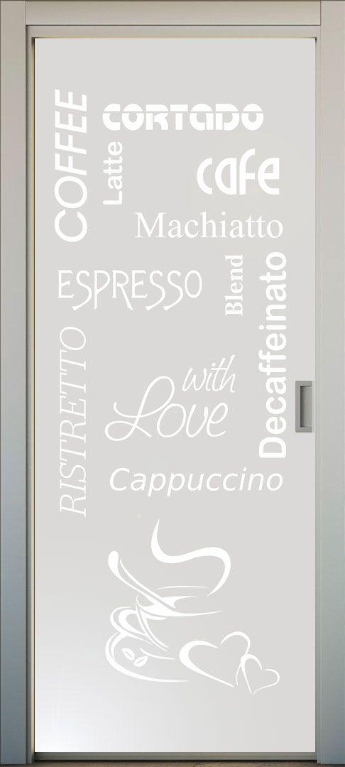 Si te gusta el caf este es el vinilo para la puerta de for Puertas decorativas para interiores