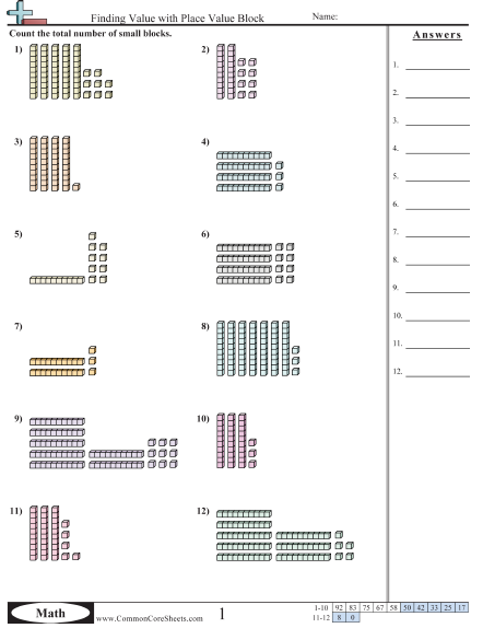 finding value with place value block worksheet place value place value worksheets place. Black Bedroom Furniture Sets. Home Design Ideas