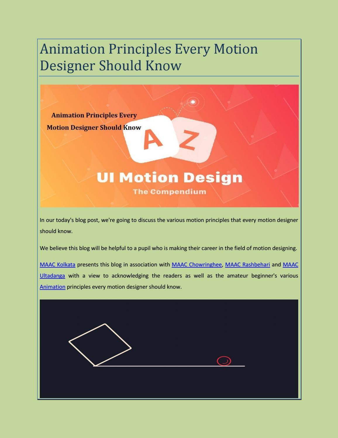 Animation principles every motion designer should know pdf also blog rh pinterest