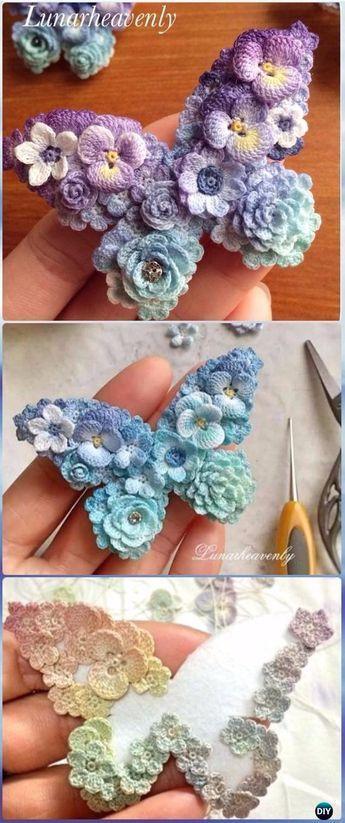 Crochet Flower Butterfly Free Pattern - Crochet Butterfly Free ...