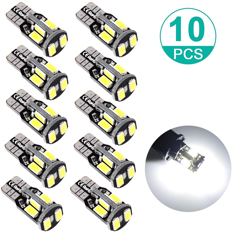 4PCS Xenon White LED Interior Dome Map Light Bulb T10 194 168 2825 Bright CANBUS