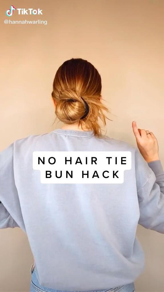 Follow Jliksr For More Video Hair Styles Bun Hairstyles Hair Ties