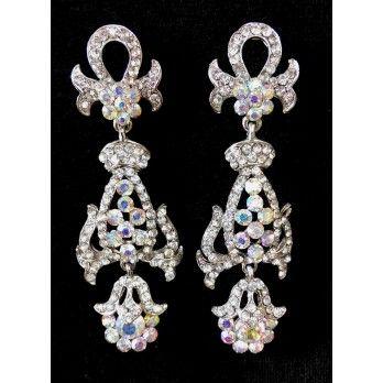 White Rhinestone Earrings