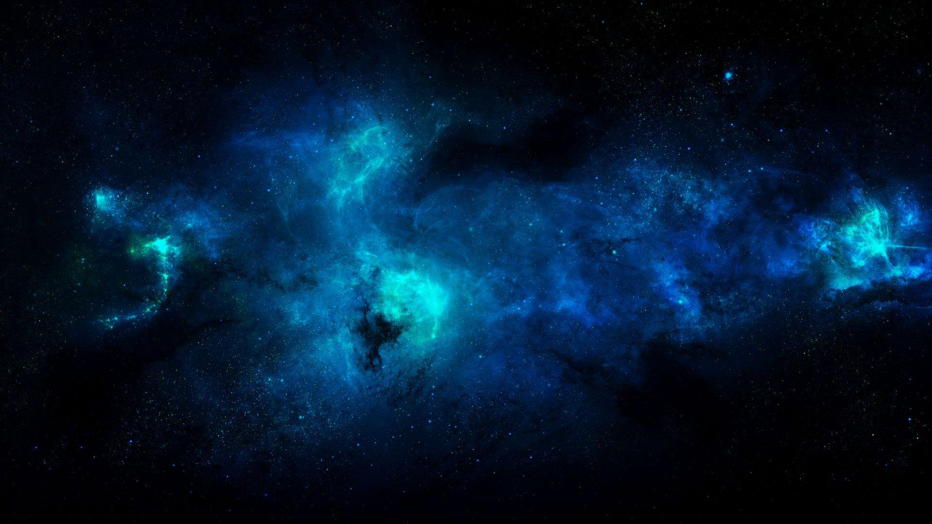 Blue Space Nebula Wallpaper Kosmos