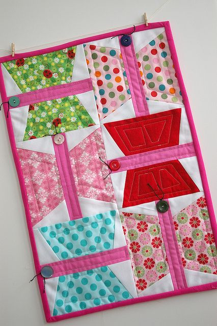 Wonky Butterfly Doll Quilt Doll Quilt Miniature Quilts Quilts