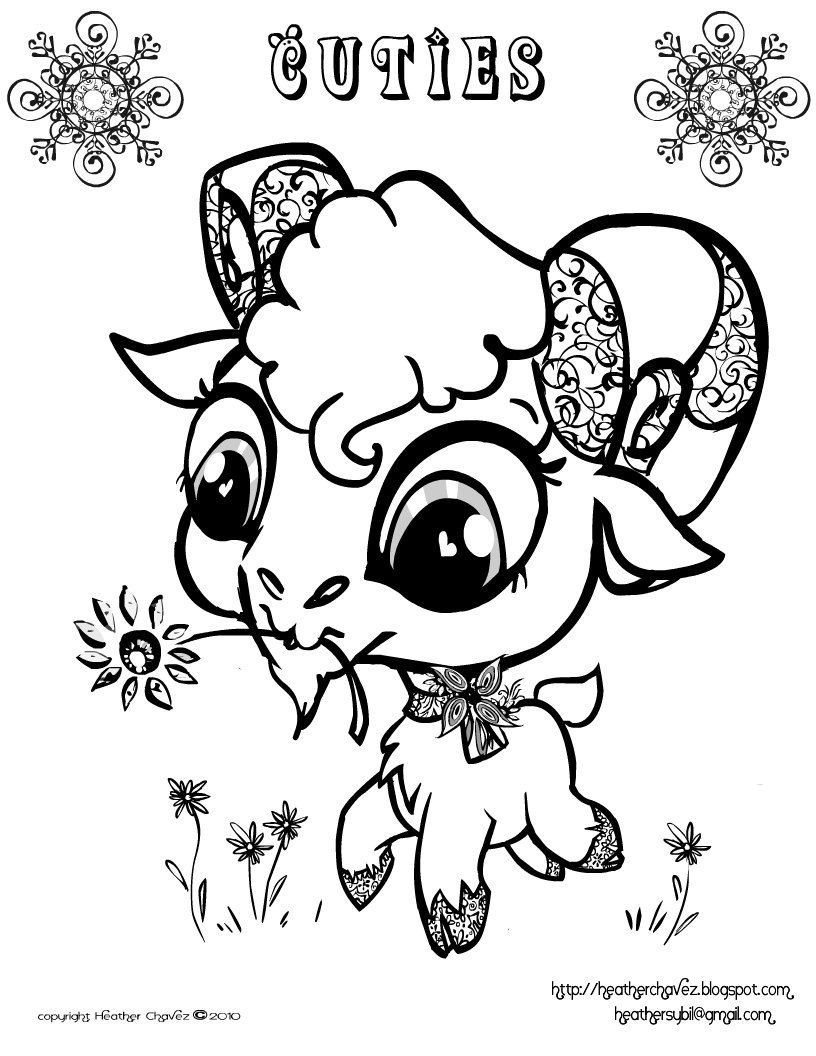 Quirky Artist Loft 'Cuties' Free Animal Coloring Pages
