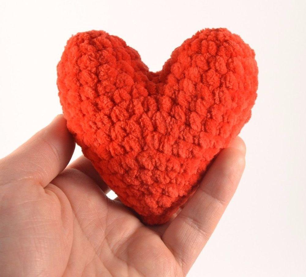 3 red hearts handmade valentine day doll plush cushion knitting 3 red hearts handmade valentine day doll plush cushion knitting patterns gift bankloansurffo Gallery