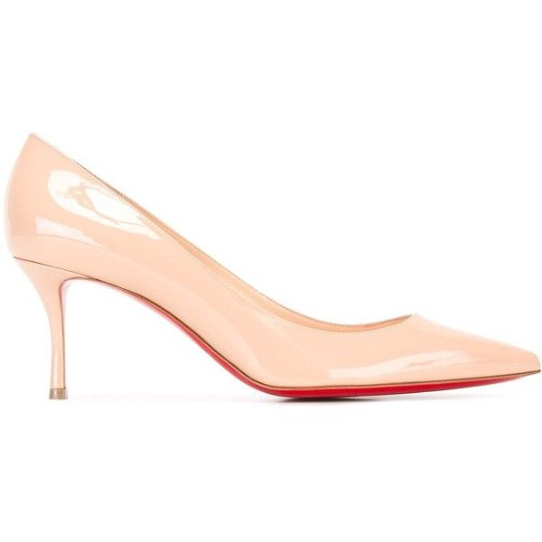 816acb88327 Christian Louboutin low heel pointed toe pumps (4 700 SEK) ❤ liked on  Polyvore