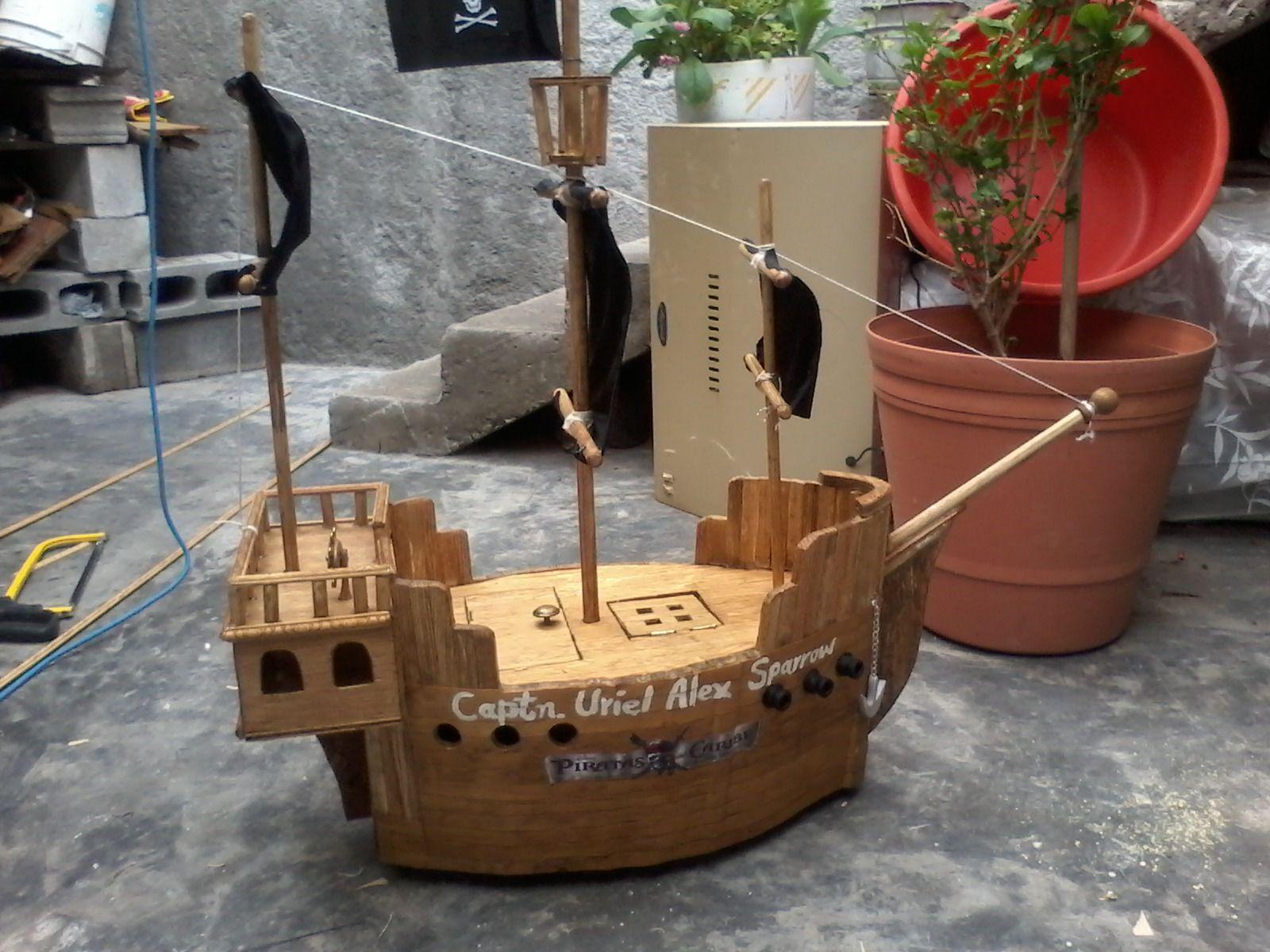 Barco Pirata En Madera Obsequio Para Uriel Alejandro En Su  # Muebles El Gigante Saltillo