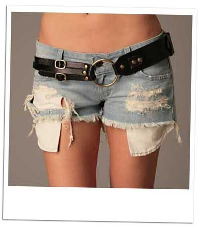 Jean Shorts Pockets Showing