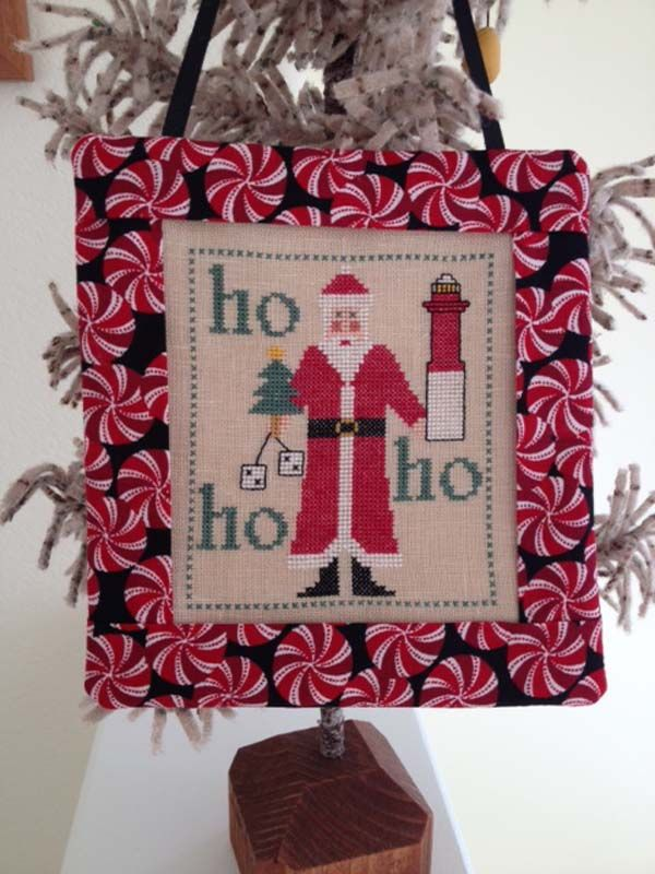 Santa Visits New Jersey From Samplers Revisited A Cross Stitch Christmas  Ornament. Finishing Instructions On