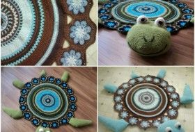 Sea Turtle Crochet Rug