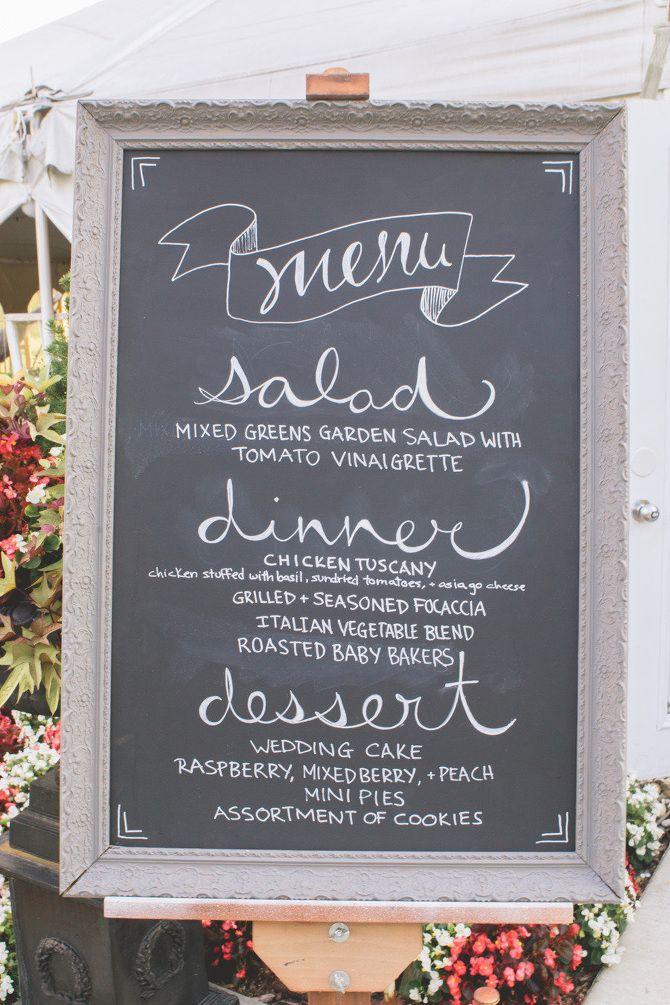 Lovely Chalkboard Fonts Hochzeitsmenu Hochzeitsschilder