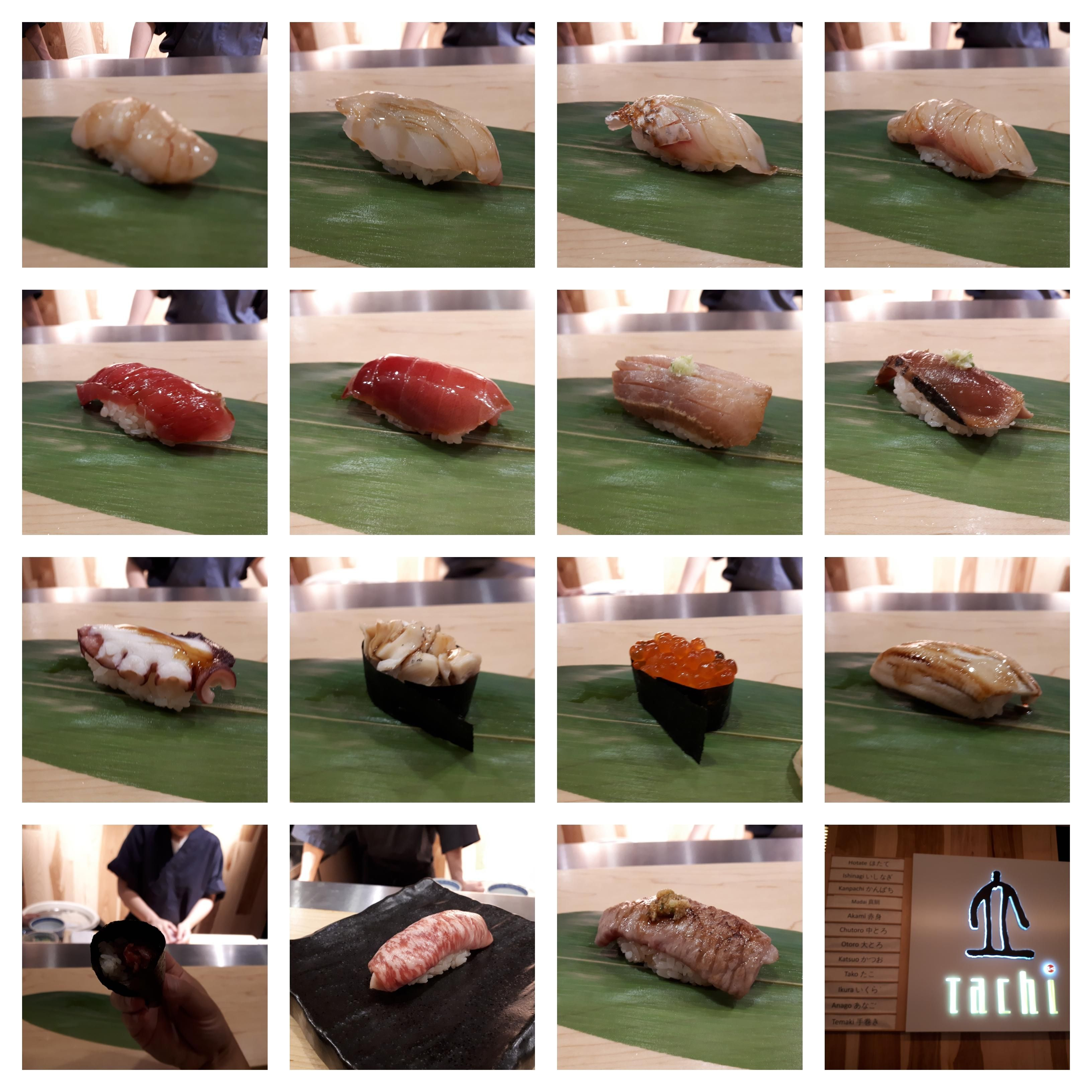 Omakase at Tachi Toronto Aug 4 2018 Collage Best sushi