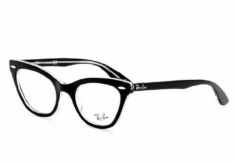 85d685c6616fe Amazon.com  Ray Ban Eyeglasses RX5226 2034 Top Black on Transparent Demo  Lens 49mm  Ray-Ban Glasses  Shoes