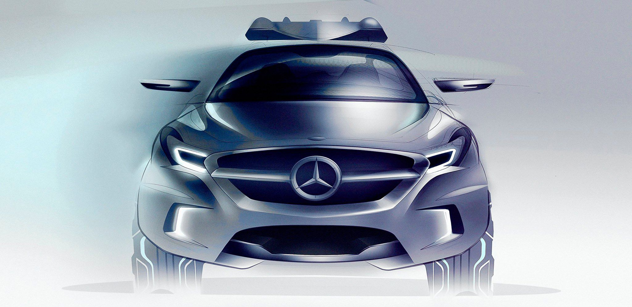 M Benz Suv Front Sketch Car Sketch Pinterest Benz Suv