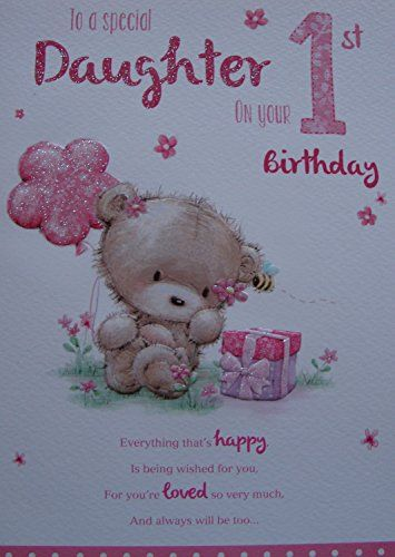 For A Special Daughter On Your 1st Birthday Card