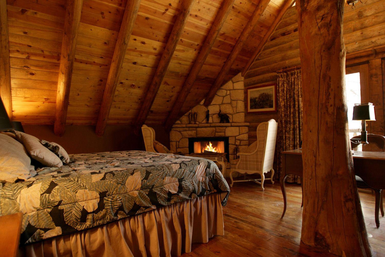 Enjoying the fireplace Cozy cabin bedrooms, Dark cozy