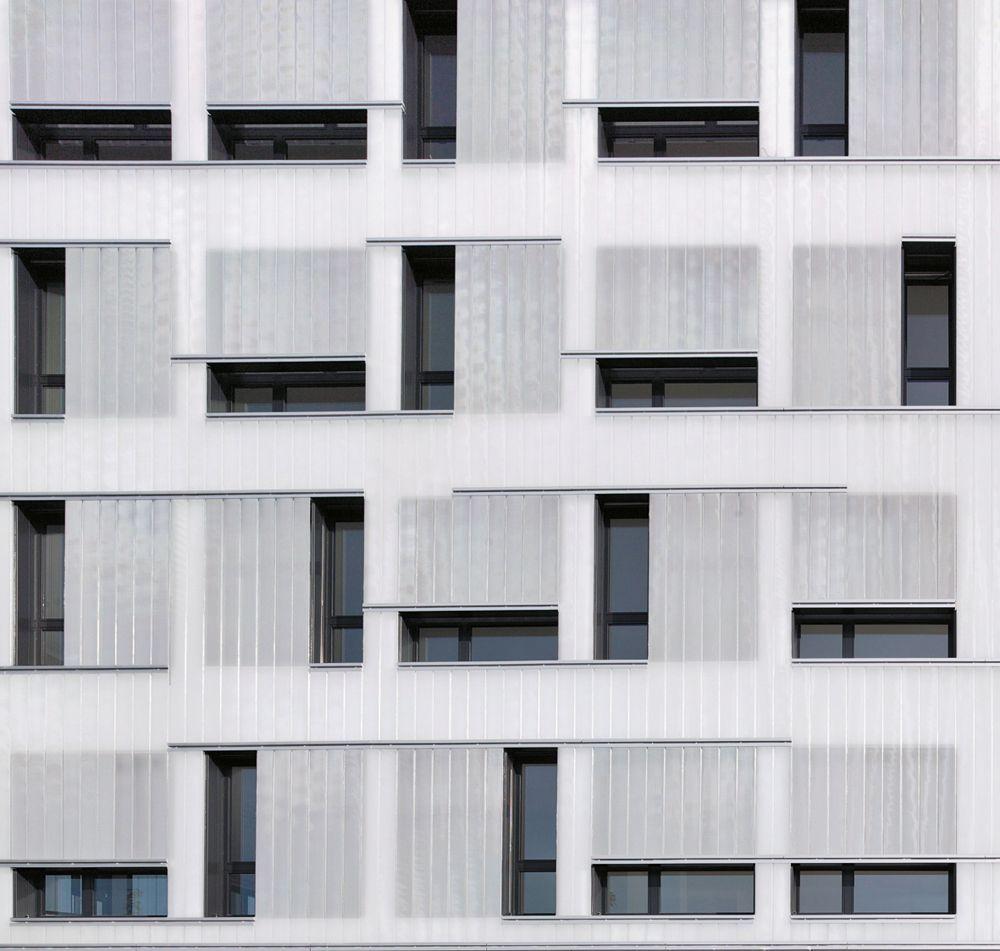 Fassade bürogebäude  Transparent oder transluzent? Fassade des Gewerbehofs von ...