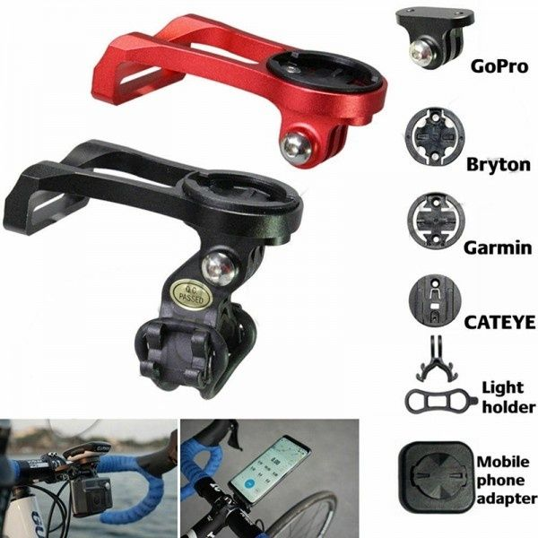 Bicycle Computer Camera Mount Bike Handlebar Holder Bracket for Go-pro Gar-min