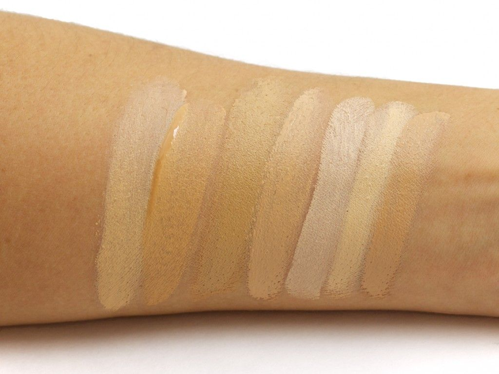 An Intro to Cover FX for olive skin. Swatches of foundation, BB ...