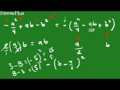 Factorización de un trinomio cuadrado perfecto   Matemáticas ...